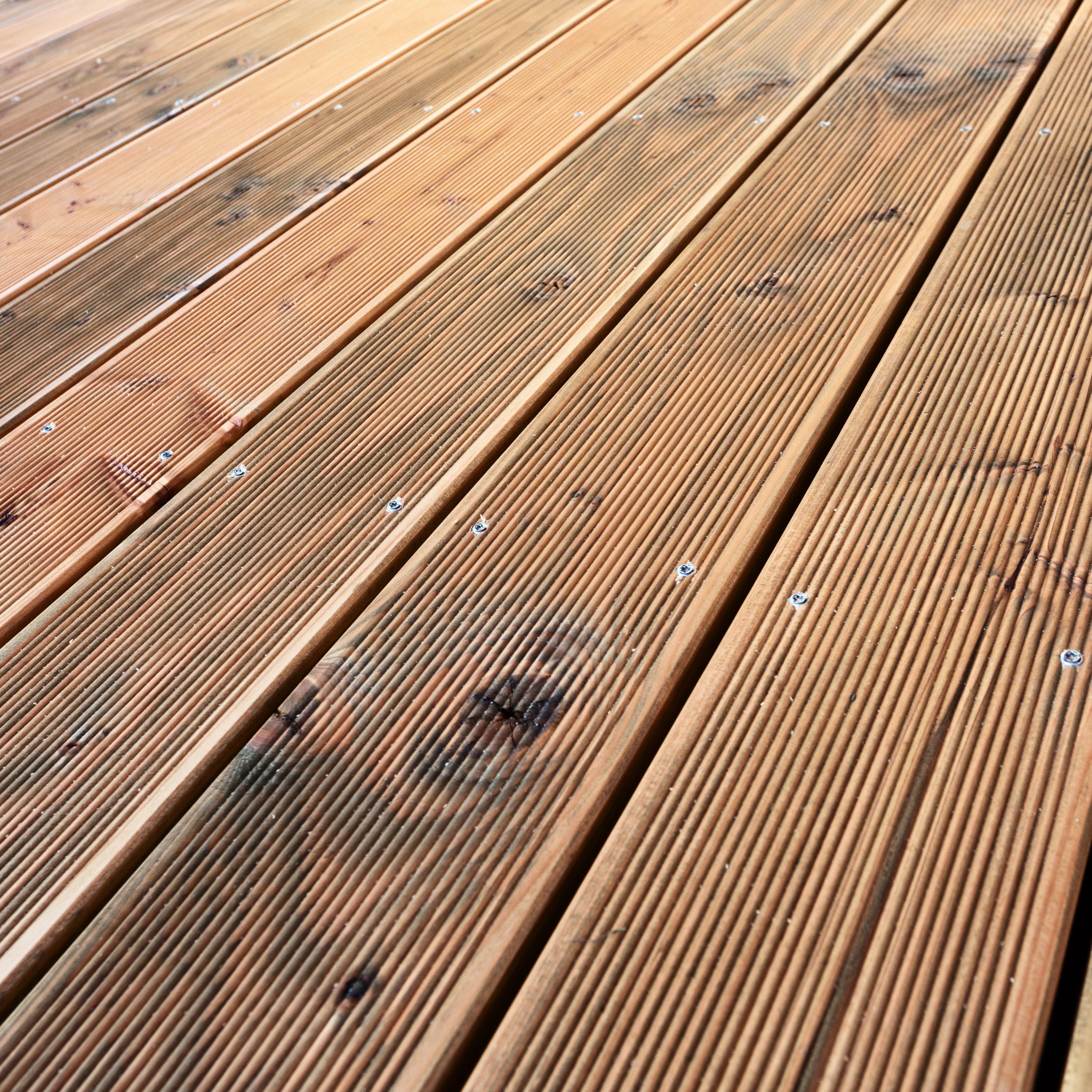 Hardwood timber decking