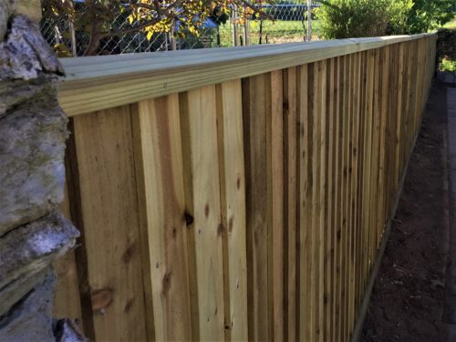 Completed fence in Chew Valley