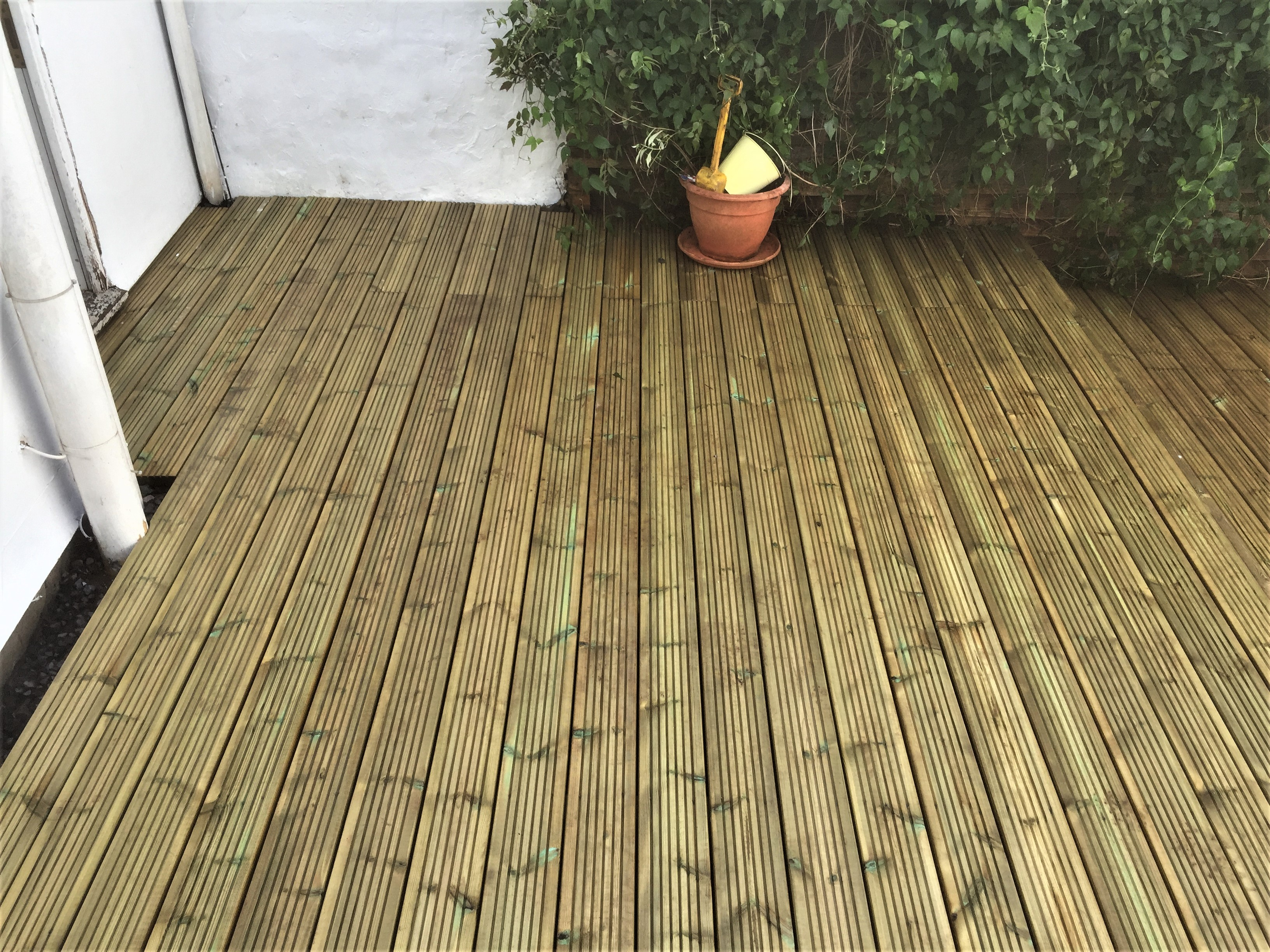 Completed decking in Bristol