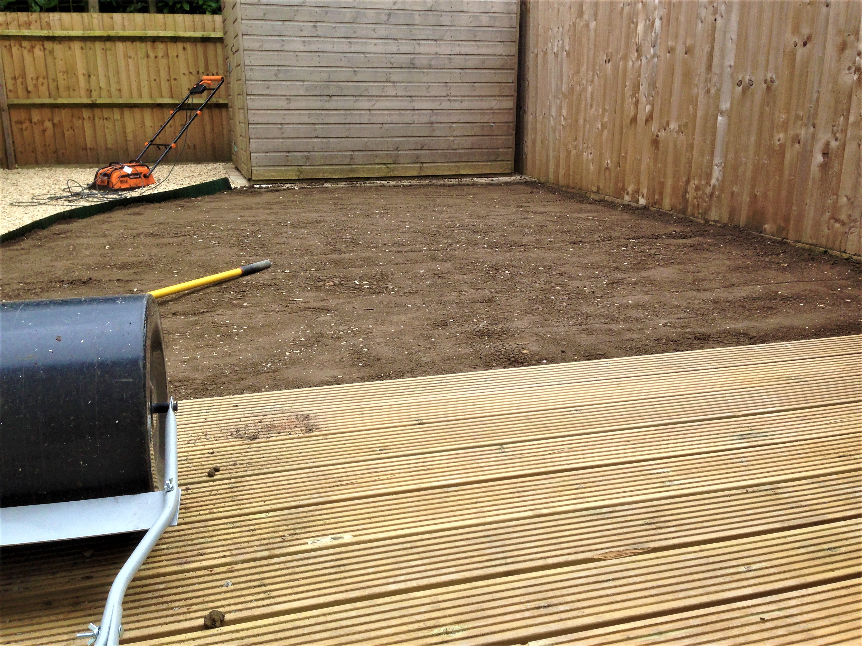 Decking complete and ready to turf