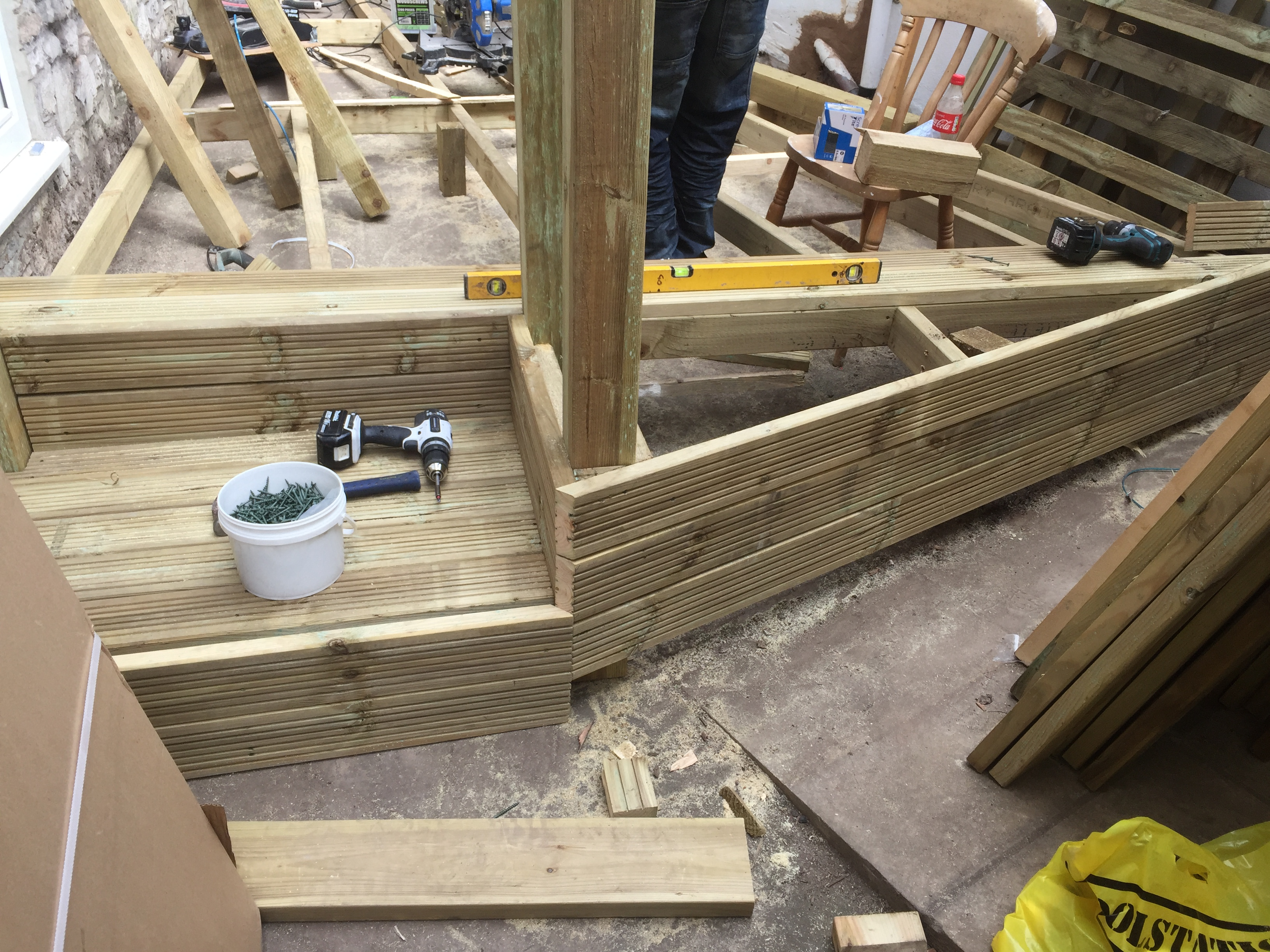 Decking step building