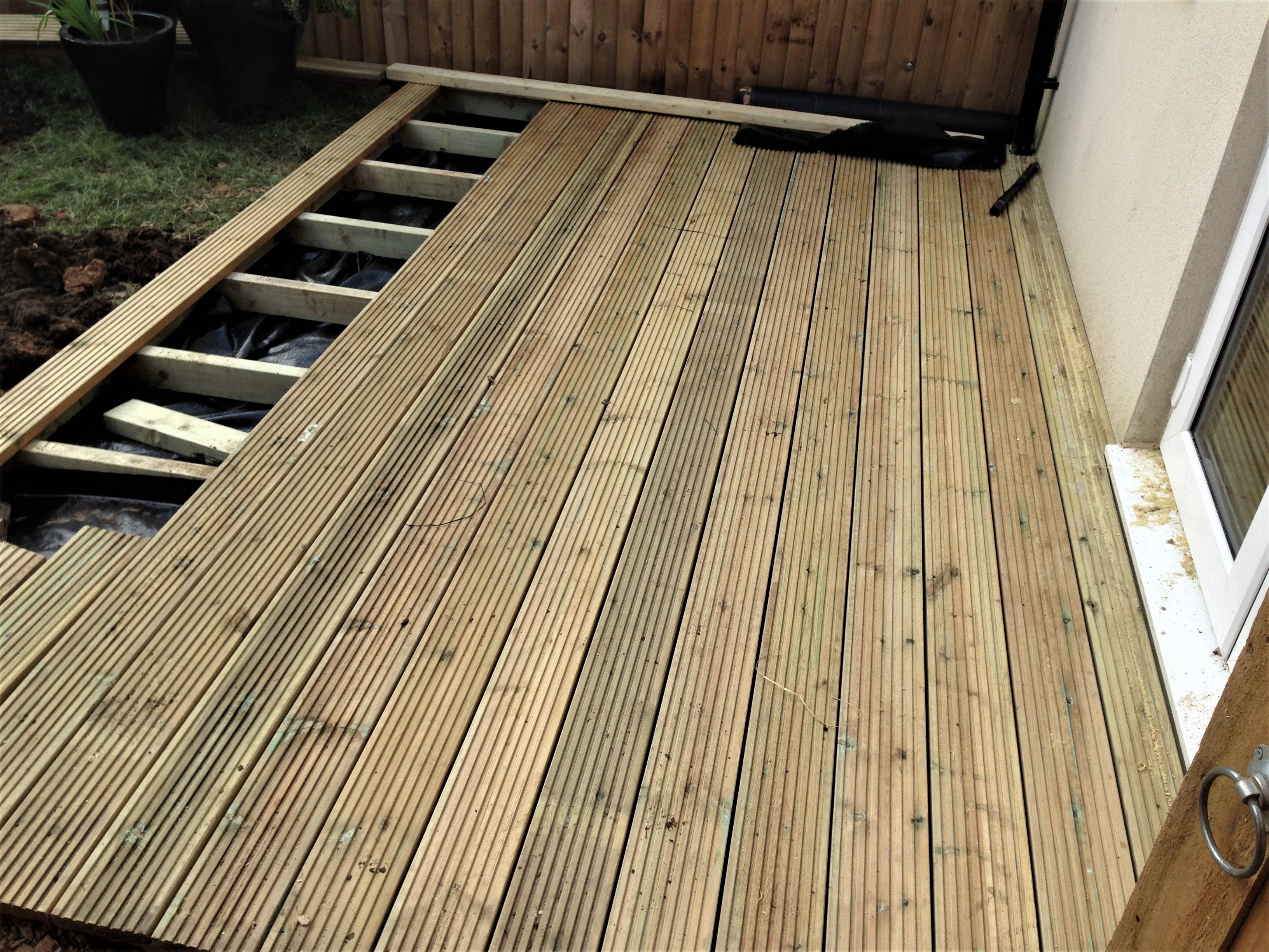 Decking under construction