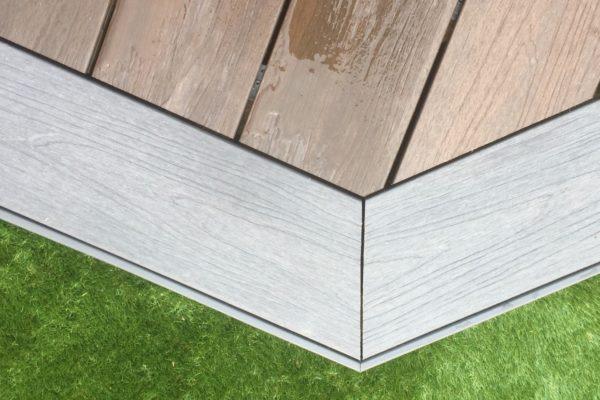 Composite decking corner detail in Portishead Bristol
