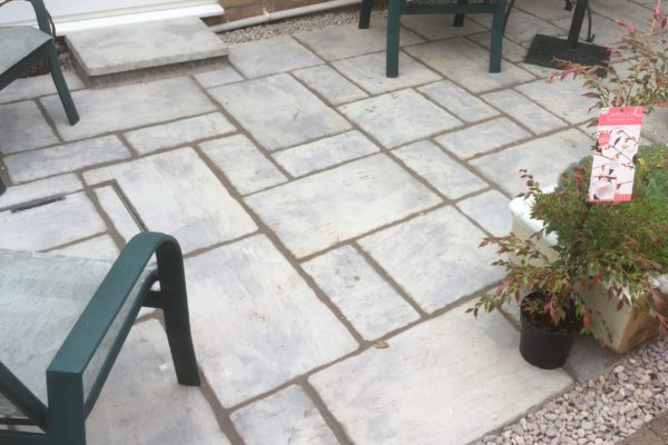 Mixed size patio pack laying in Frenchay Bristol
