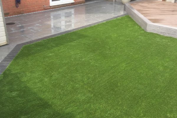 Artificial grass fitting in Portishead Bristol