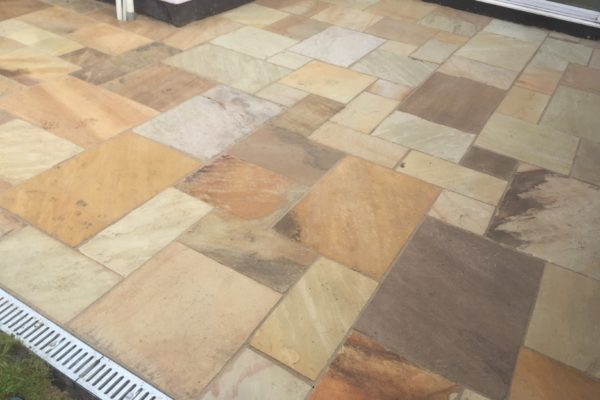 Mint Fossil patio laying in St George Bristol