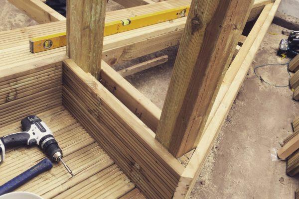 Decking under construction bristol