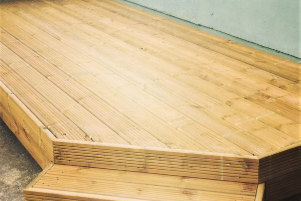 Raised softwood decking